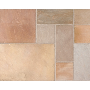 Marshalls Indian Sandstone Project Pack Buff Multi 20.93m2