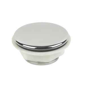 4Trade Plastic Tap Hole Stopper Chrome Plated