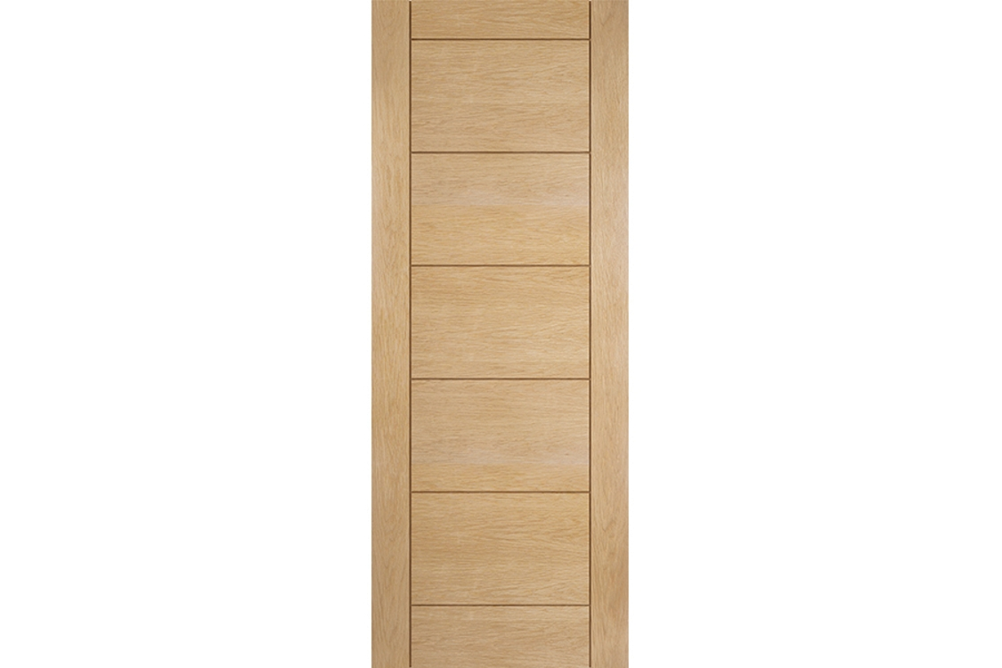 Jeld-wen Oregon Ladder Panel Interior White Oak Door 1981x610mm