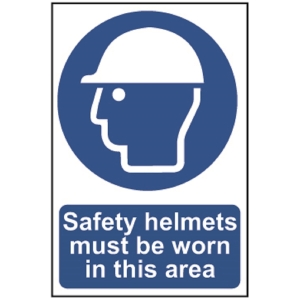 Spectrum Safety Helmets Must Be Worn in  This Area (Regular)