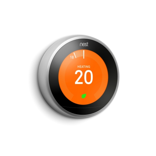 Nest Learning Thermostat 3RD-GENERATION Uk/Ie Stainless Steel (Without Adapter + USB) T3028gB