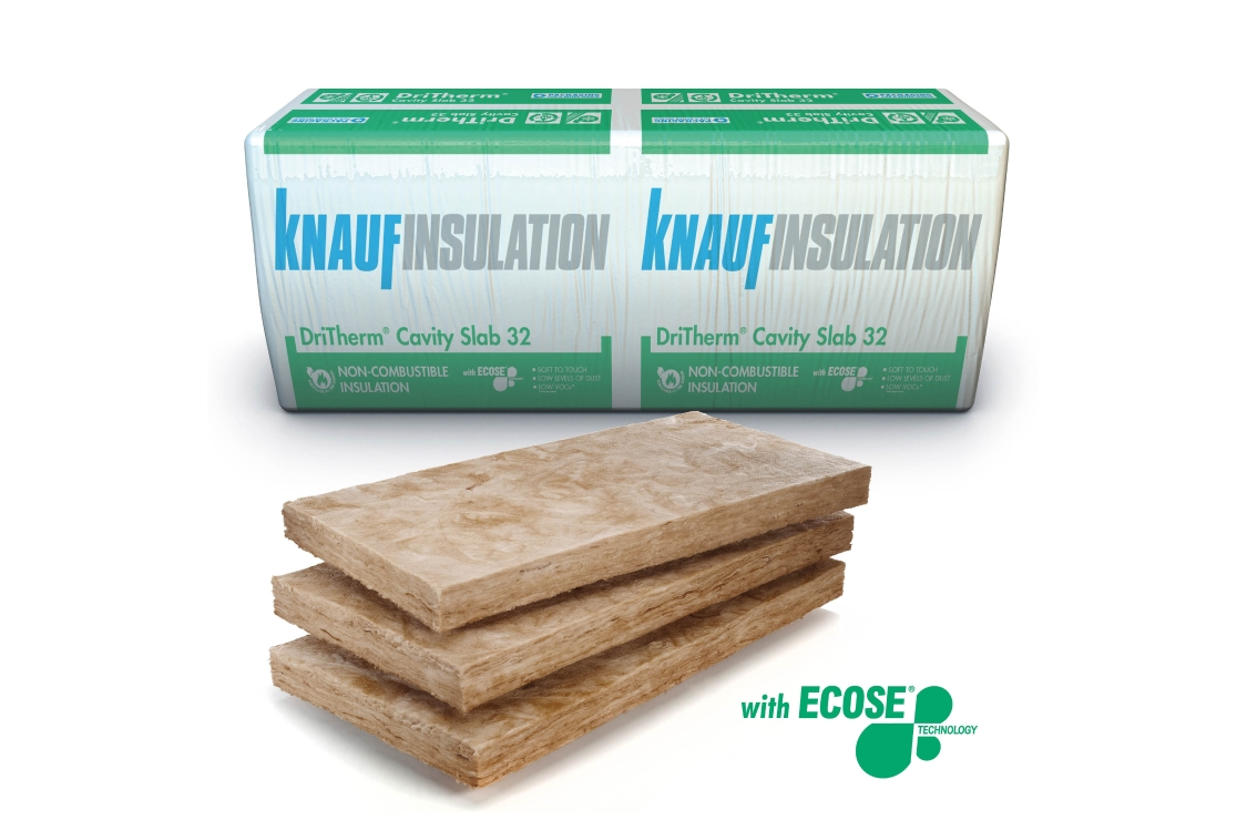 Knauf Insulation DriTherm 32 Cavity Insulation Slab 125mm 1200mm x 455mm