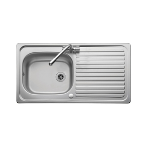 Leisure Linear 1 Bowl 1 Drainer Inset Stainless Steel Kitchen Sink