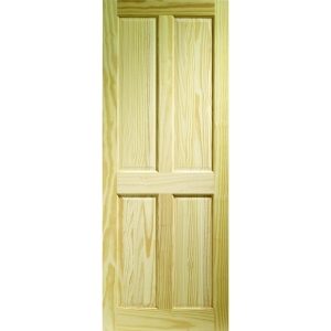Softwood Victorian 4 Panel Clear Pine Internal Door