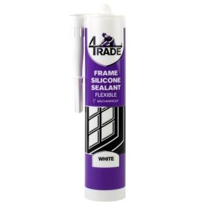 4Trade Frame Silicone Sealant White 310ml