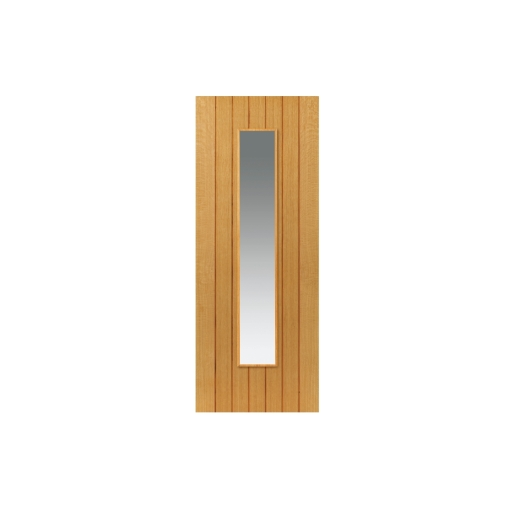 Internal Oak Cherwell Internal Prefinished Glazed Door 35 x 1981 x 762mm