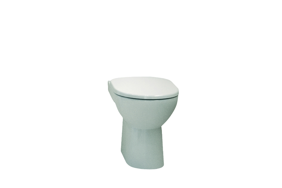 Twyford E100 Square Standard Close Coupled Toilet Pan E11148WH