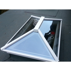 Vista Glaze Contemporary Lantern ROOFLIGHT1000 x 2000 White Int / Ext