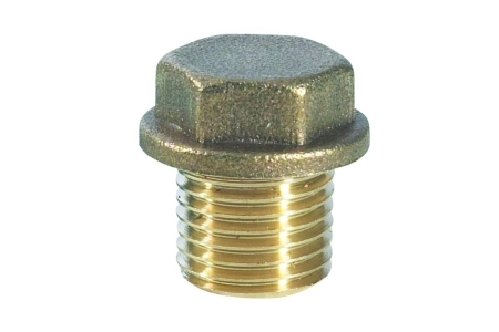 Compression Brass Flanged Plug 9mm