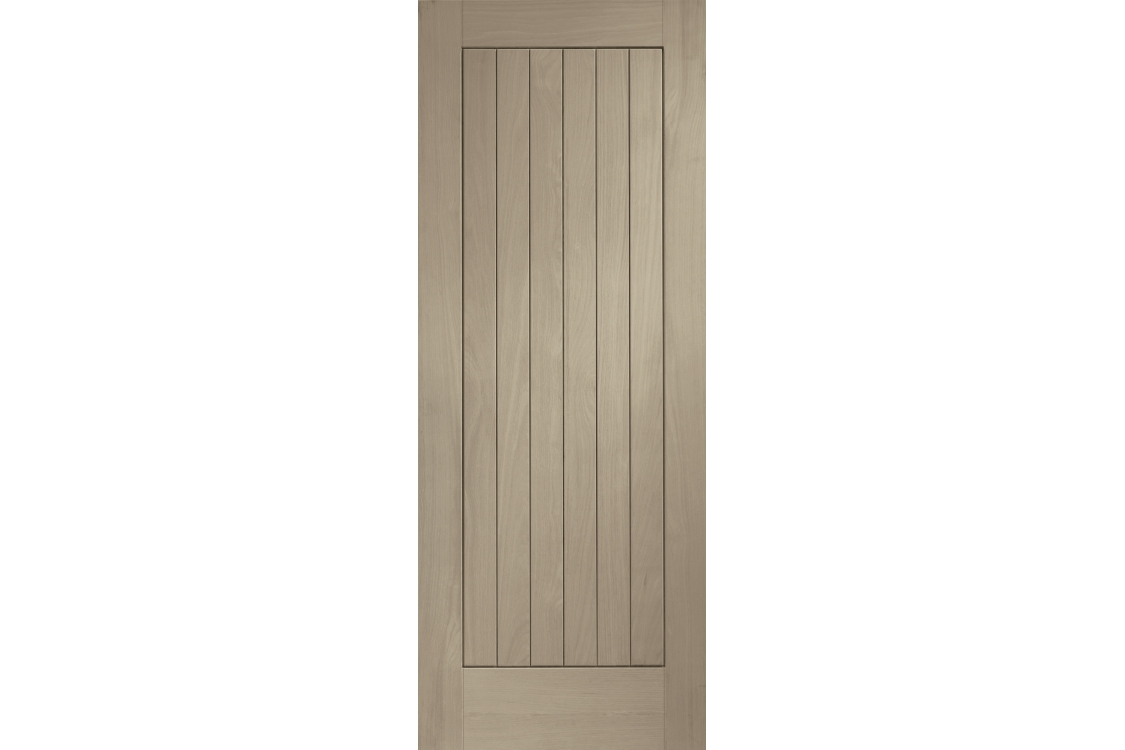 Travis Perkins Internal Fully Finished Suffolk Door Crema Stain 1981 x 762 x 35mm 30in