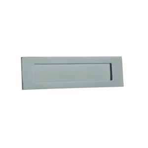 4Trade Letterbox Plate Chrome 250 x 75mm