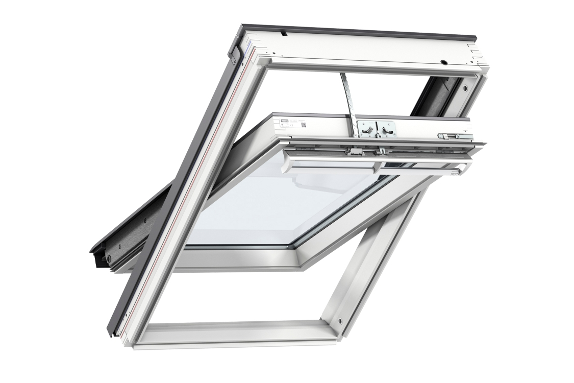 VELUX INTEGRA Electric Centre Pivot Roof Window White Painted 940mm x 1400mm