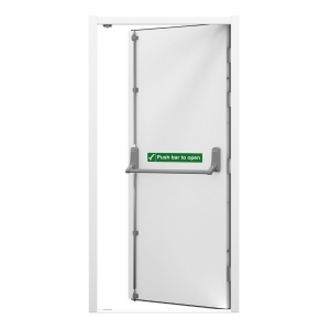 Lathams Fire Escape Steel Door Left Hand 895 x 2020mm