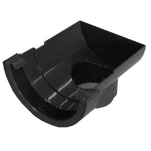 Osma RoundLine 0T007 Stopend Outlet 112mm Black