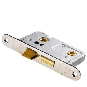 FireSTOP Bathroom Lock Fire Rated Satin Nickel 64mm