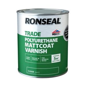 Ronseal Trade Polyurethane Hardglazeclear Gloss Varnish 750ml