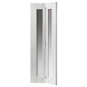 Internal White Axis Primed Glazed Bifold Door 35 x 1981 x 762mm