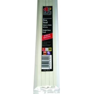 4FireDoorsDOORS Intumescent Fire Seal White 10 x 4 x 1005mm Single Door Pack FD210