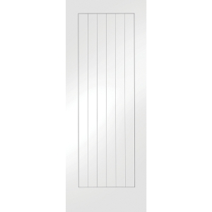 White Primed Suffolk Semi Solid Internal Door