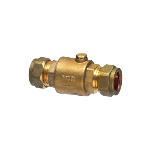 Single Brass Check Valve 15mm