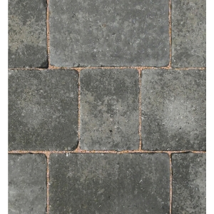 Bradstone Woburn Rumbled Concrete Block Paving Graphite 200mm x 134mm x 50mm - Pack of 336