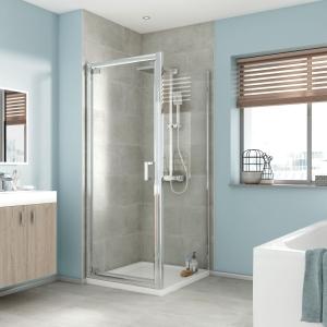 Bathrooms By Tp Edessa Pivot Shower Enclosure Door 760mm