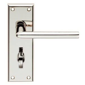 4FIREDOORS Vogue FS959 Lever Handle On Bathroom Back Plate Chrome