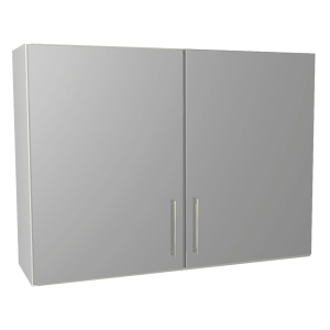 Orlando Gloss Grey Kitchen 1000mm Wall Unit