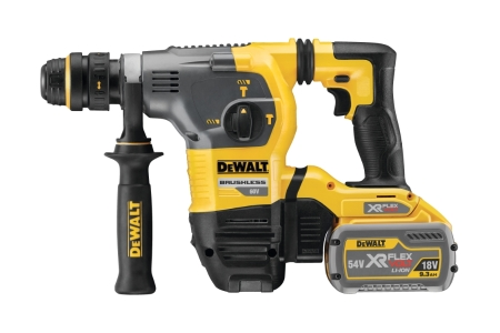 DeWalt 54V Xr Flexvolt Brushless SDS+ Hammer Drill with 2 x 9AH Batteries DCH334X2-GB