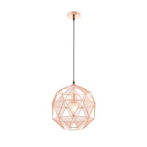 Endon Hex Pendant Light Copper