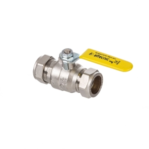 Altecnic AI-331115 Intaball Compression Ball Valve Yellow Lever (Gas) 15mm