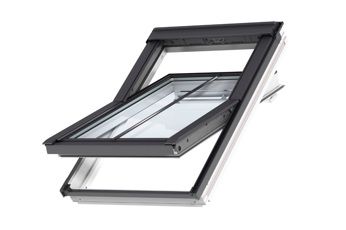 VELUX Centre Pivot Roof Window White Painted 660mm x 1180mm GGL FK06 2070