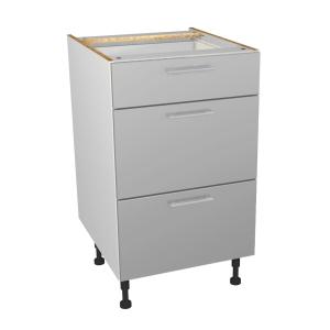 Orlando Gloss Grey Kitchen 500mm Drawer Unit
