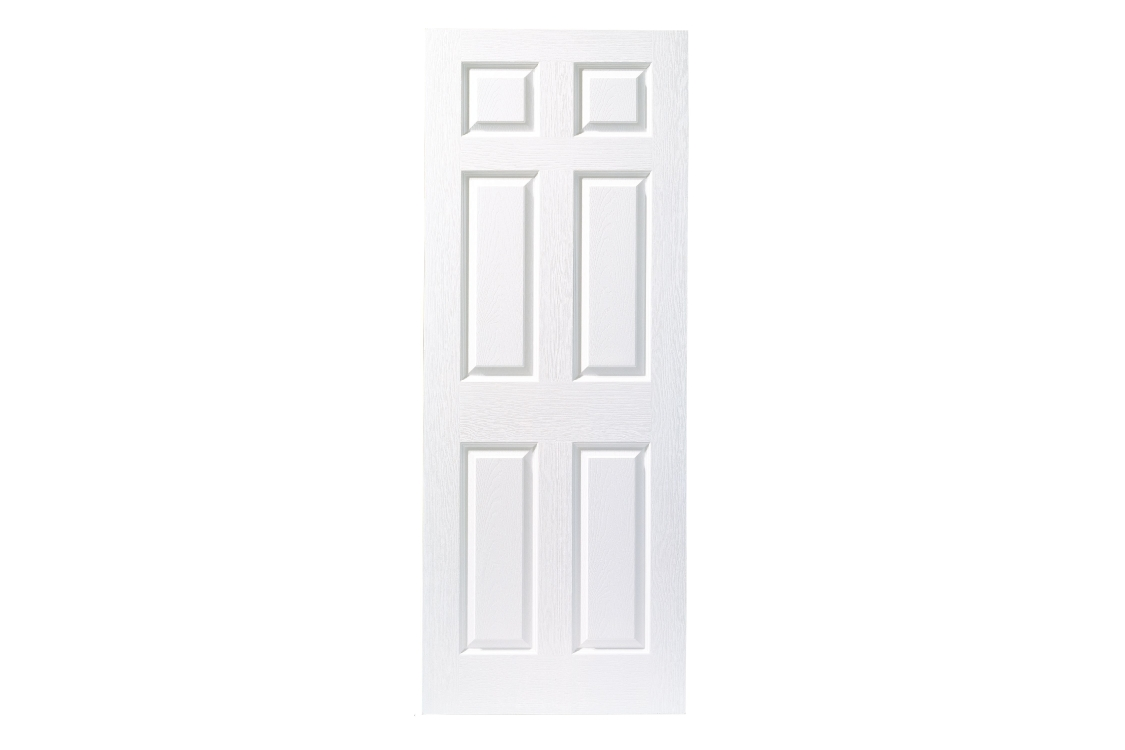 Internal 6 Panel Grained 30 Min Fire Door 1981 x 762 x 44mm