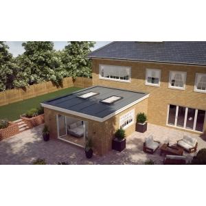 Vista Glaze Flat Rooflight 1000 x 2000mm Greyexterior / White Interior