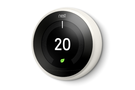 Nest White 3RD Generation Learning Thermostat (Without Adapter + USB) T3029EX