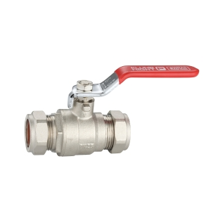 Plumbright Red Handle Lever Ball Valve