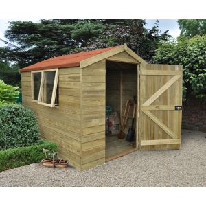 Shiplap Pressure Treated Pent Shed