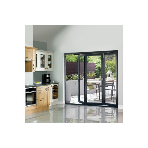 External Slimline Pre-finished Grey Bifold Door Set 2090mm wide