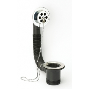 Embrass Peerless Bath Combination Waste With Overflow and Black Plug and Ball Chain 1.5in 200508