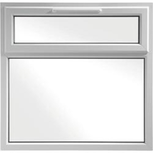 Euramax White Upvc Casement Window 2P Top Hung 1190 x 1190mm