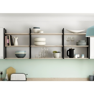 Bistro Shelving System (2 x Frames and Fixings Only)