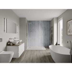 Multipanel Linda Barker Bathroom Wall Panel Hydrolock Concrete Formwood 6362