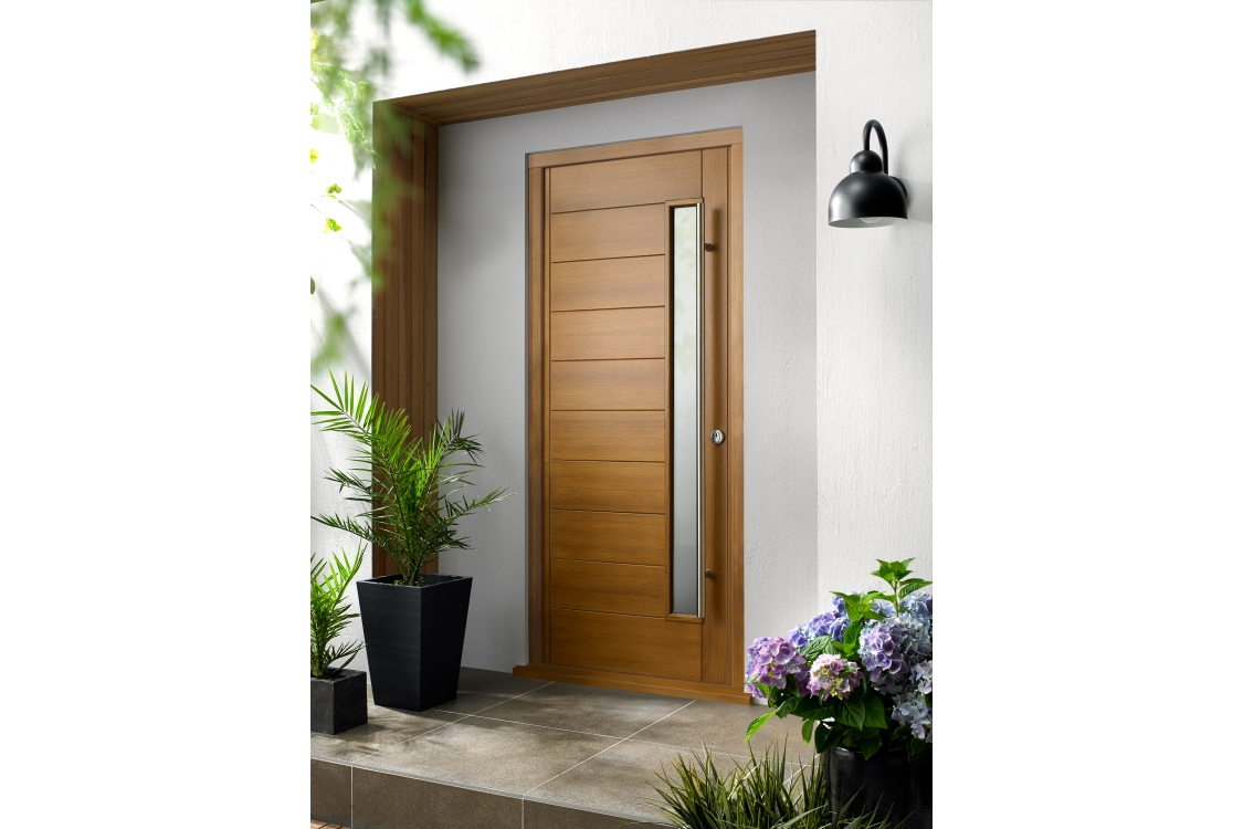 Stockholm Ultimate External Oak Front Door with Outer Frame 852mm x 2079mm