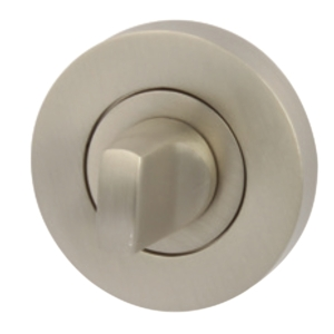 Hafele Olton Escutcheon Standard Lock Satin Nickel