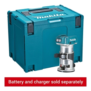 Makita DRT50ZJ 18V Router with Trimmer Base and Straight Guide