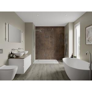 Multipanel Linda Barker Bathroom Wall Panel Hydrolock Corten Elements 8832