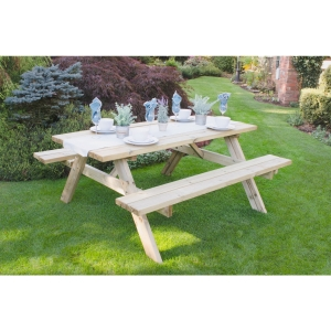 Large Rectangular Picnic Table Pressure Treated 1530 x 770 x 1770mm