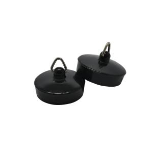4Trade 1-1/2in Black Basin Plug (Pack of 2)