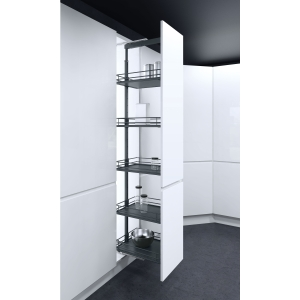 300 mm Larder Pull Out Mechanism with Graphite Baskets - Vauth Sagel